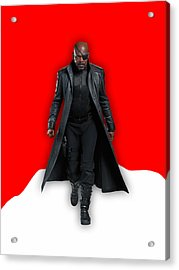 Avengers Nick Fury Collection Acrylic Print by Marvin Blaine
