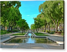 Avenue Jean Jaures Nimes Acrylic Print by Scott Carruthers