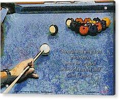 Awareness Zen Pool Acrylic Print by Max Eberle