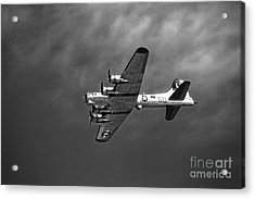 Acrylic Print featuring the photograph B-17 Bomber - Infrared by Thanh Tran