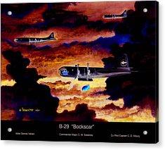 B-29 Bockscar Acrylic Print by Dennis Vebert