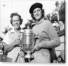 Patty Berg And Babe Didrikson Acrylic Print by Underwood Archives
