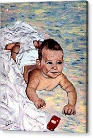 Baby In Heaven Acrylic Print by Stan Hamilton