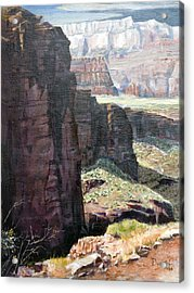 Back Of Zion Acrylic Print by Bob Duncan