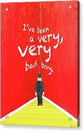 Bad Boy Greeting Card Acrylic Print