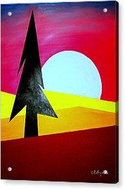 Big Bad Moon Rising Acrylic Print by J R Seymour