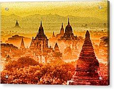 Bagan Pagodas Acrylic Print by Dennis Cox WorldViews