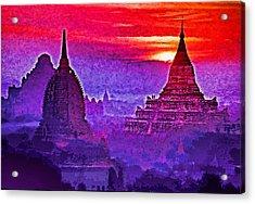 Bagan Sunrise Acrylic Print by Dennis Cox WorldViews