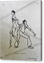 Ballet Practice Acrylic Print by Tamara Savchenko