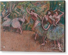 Ballet Scene Acrylic Print by Edgar Degas