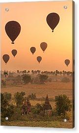 Balloons Sky Acrylic Print