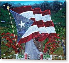 Bandera De Puerto Rico Acrylic Print