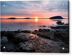 Bar Harbor Sunrise Acrylic Print by Stephen  Vecchiotti