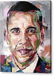 Barack Obama Acrylic Print by Richard Day