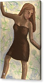 Acrylic Print featuring the painting Barbara Ann by Clarence Major