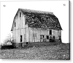 Barn On The Hill Bw Acrylic Print by Julie Hamilton