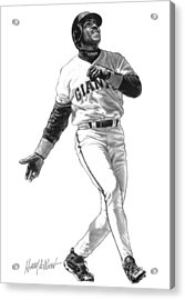 Barry Bonds Acrylic Print by Harry West