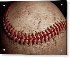 Acrylic Print featuring the photograph Baseball Seams by David Patterson