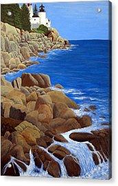 Bass Harbor Head Lighthouse Acrylic Print by Frederic Kohli