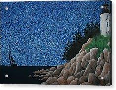 Bass Harbor Lighthouse Acrylic Print by Nick Flavin