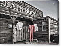 Bath House In Old Tucson Acrylic Print by Wendy White