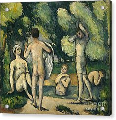 Bathers Acrylic Print by Paul Cezanne
