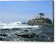 Battery Point Lighthouse Crescent City 1 Acrylic Print by Larry Darnell