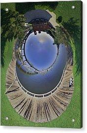 Battleship Cove Little Planet Acrylic Print by Christopher Blake