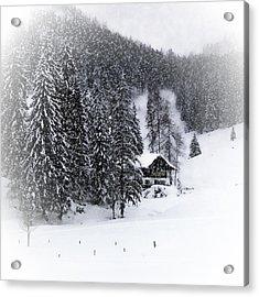Bavarian Winter's Tale Ix Acrylic Print by Melanie Viola