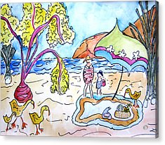 Beach Picnic Acrylic Print by Suzanne Stofer