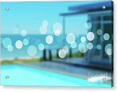 Acrylic Print featuring the photograph Beach Resort Concept by Atiketta Sangasaeng