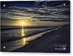 Beach Sunset 1021b Acrylic Print by Walt Foegelle