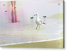 Beach Walk Acrylic Print by JAMART Photography