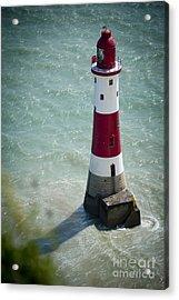 Beachy Head Lighthouse. Acrylic Print by Donald Davis