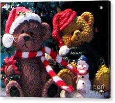 Beary Merry Christmas Acrylic Print
