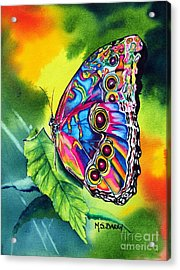 Beatrice Butterfly Acrylic Print by Maria Barry