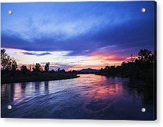 Beautiful Sunset Along Boise River Acrylic Print by Vishwanath Bhat
