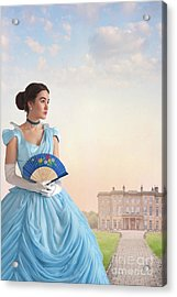 Beautiful Young Victorian Woman Acrylic Print by Lee Avison