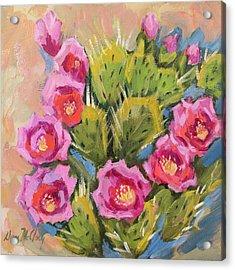 Beavertail Cactus Acrylic Print