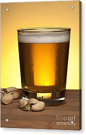 Beer In Glass Acrylic Print by Blink Images
