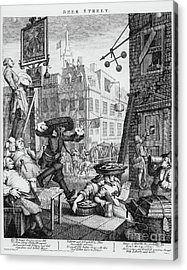 Beer Street Acrylic Print by William Hogarth