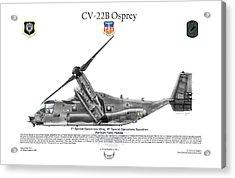 Bell Boeing, Cv-22b, Osprey Acrylic Print by Arthur Eggers