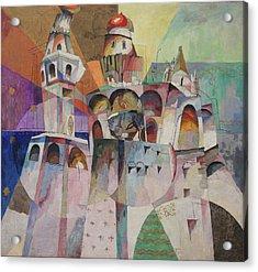 Bellringing. Ivan The Great Bell-tower. Acrylic Print by Aristarkh Lentulov