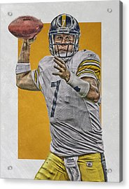 Ben Roethlisberger Pittsburgh Steelers Art Acrylic Print by Joe Hamilton