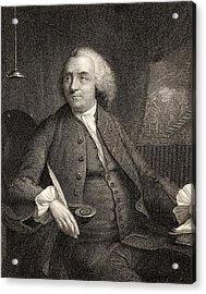 Benjamin Franklin, 1706-1790. American Acrylic Print