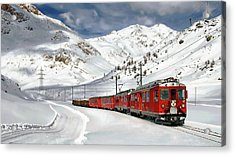 Bernina Winter Express Acrylic Print