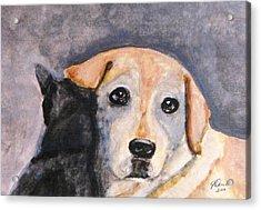 Best Friends Acrylic Print by Angela Davies