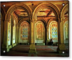Acrylic Print featuring the photograph Bethesda Terrace Arcade by Jessica Jenney