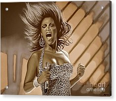 Beyonce Acrylic Print by Meijering Manupix