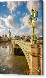 Big Ben London Acrylic Print by Adrian Evans
